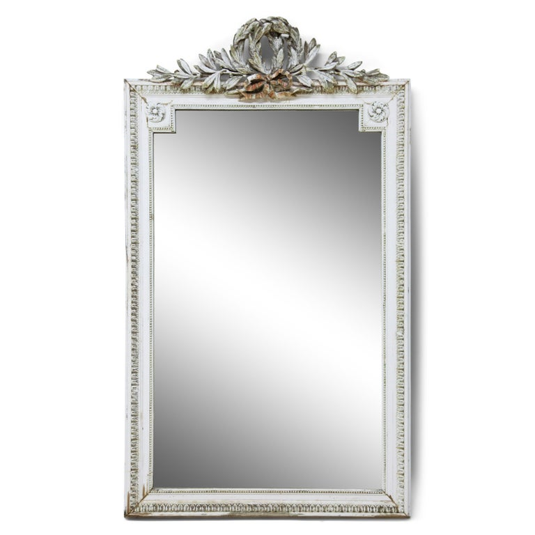 Set of Four Louis Seize Style Wall Mirrors, Probably, France, 19th Century In Fair Condition For Sale In Greding, DE