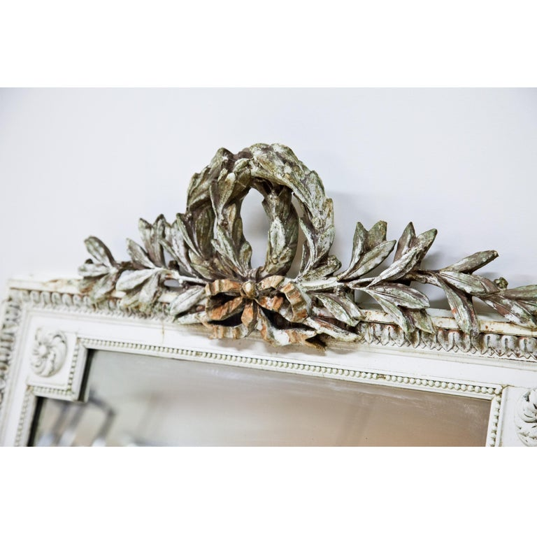 Wood Set of Four Louis Seize Style Wall Mirrors, Probably, France, 19th Century For Sale