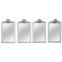 Set of Four Louis Seize Style Wall Mirrors, Probably, France, 19th Century