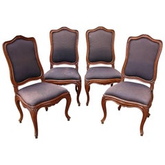 Set of Four Louis XV 18th Century Chairs