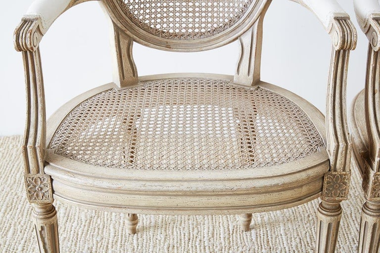 Set of Four Louis XVI Gustavian Style Dining Chairs For Sale 3