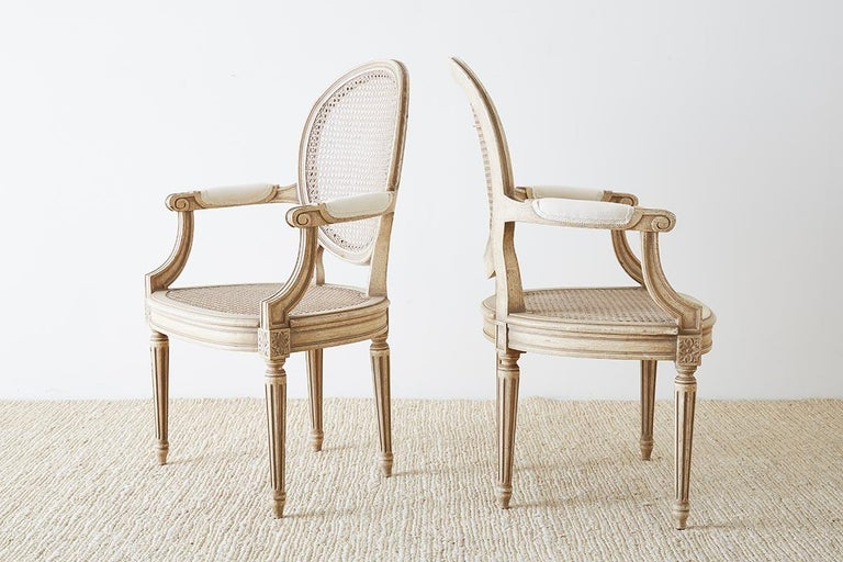 Set of Four Louis XVI Gustavian Style Dining Chairs For Sale 4
