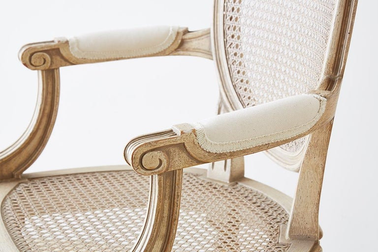 Set of Four Louis XVI Gustavian Style Dining Chairs For Sale 6