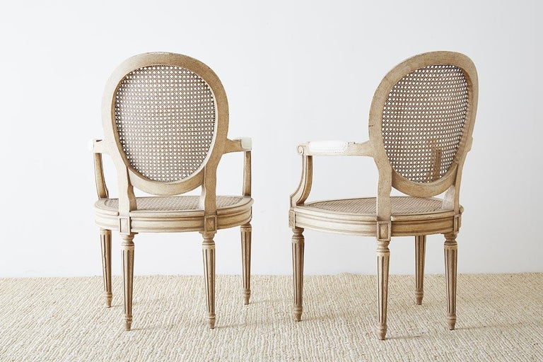 Set of Four Louis XVI Gustavian Style Dining Chairs For Sale 7