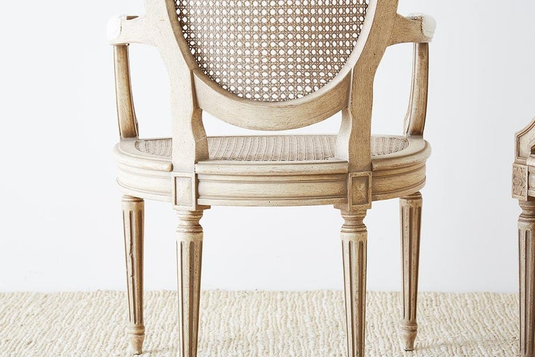 Set of Four Louis XVI Gustavian Style Dining Chairs For Sale 8