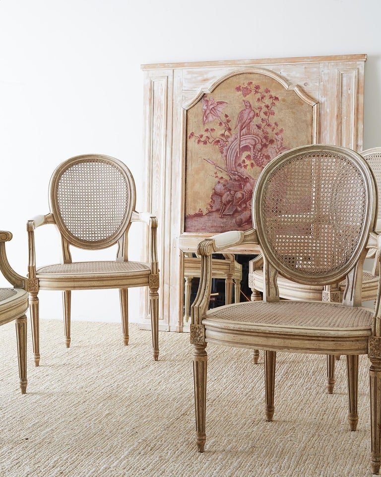 20th Century Set of Four Louis XVI Gustavian Style Dining Chairs For Sale