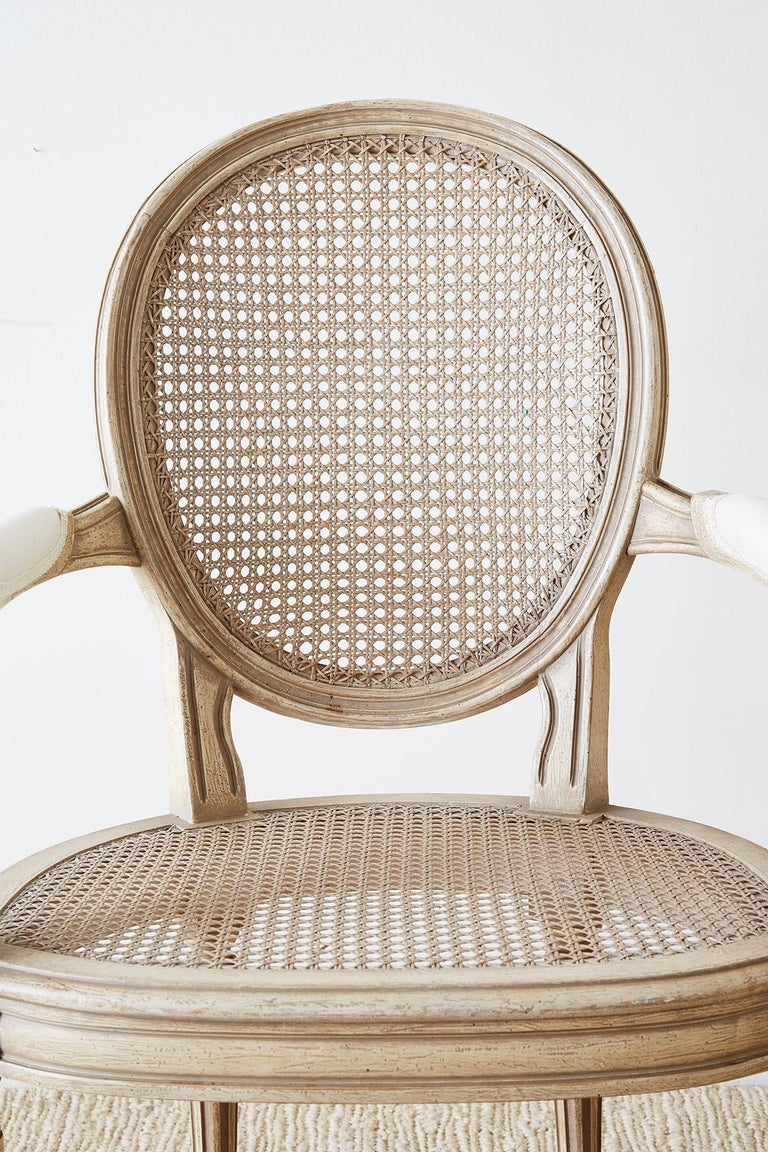Set of Four Louis XVI Gustavian Style Dining Chairs For Sale 1