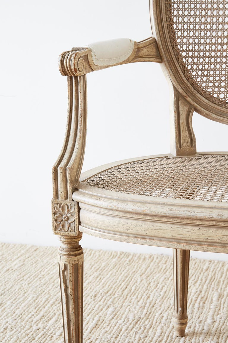 Set of Four Louis XVI Gustavian Style Dining Chairs For Sale 2