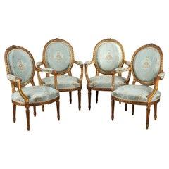 Set of Four Louis XVI Style Armchairs