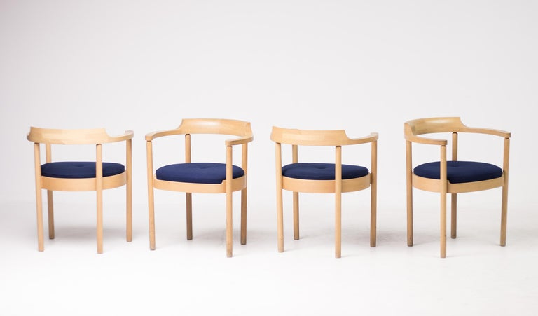 Danish Set of Four M40 Dining Chairs by Henning Jensen & Torben Valeur For Sale