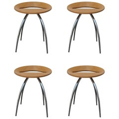 Set of Four Magis Lyra Stools by the Design Group Italia