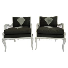Set of Four Maison Jansen Harlequin Armchairs