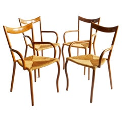 Set of Four Manila Dining Arm chairs by Val Padilla for Jasper Conran, 1970s