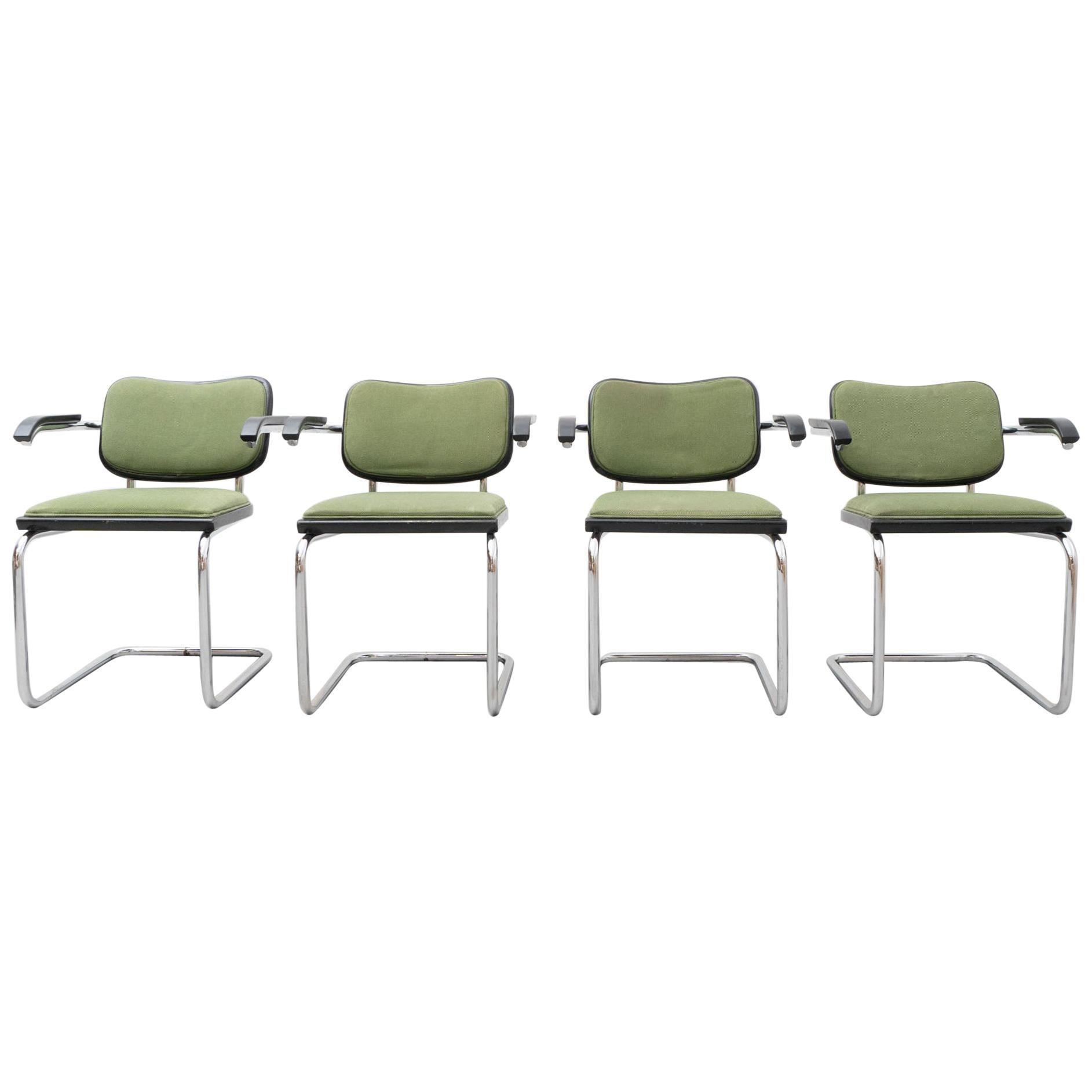 Set of Four Marcel Breuer Cesca Chairs by Gavina, circa 1970