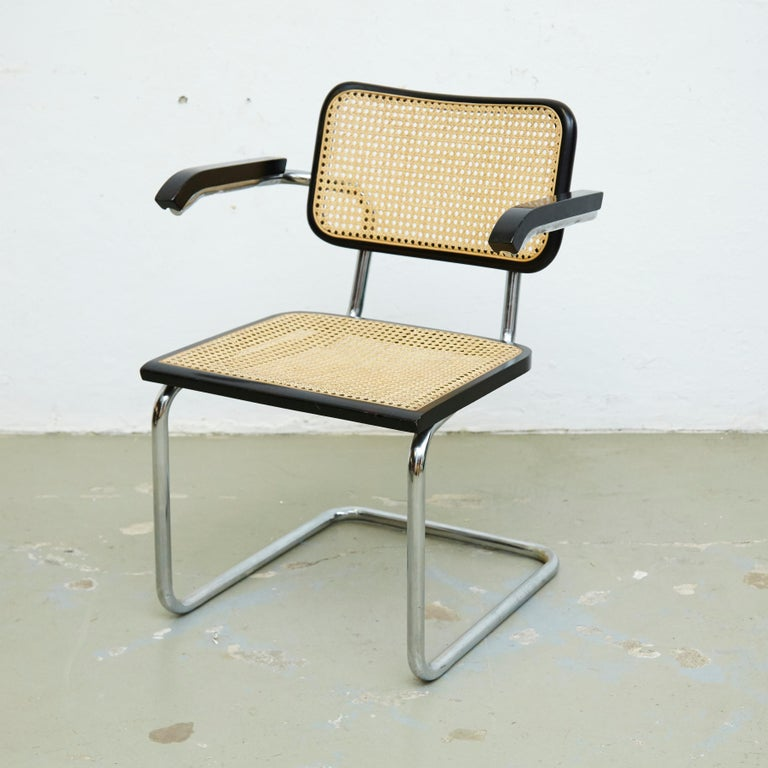 Italian Set of Four Marcel Breuer Cesca Chairs, circa 1970 For Sale