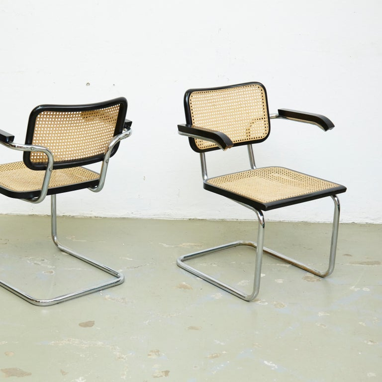 Late 20th Century Set of Four Marcel Breuer Cesca Chairs, circa 1970 For Sale