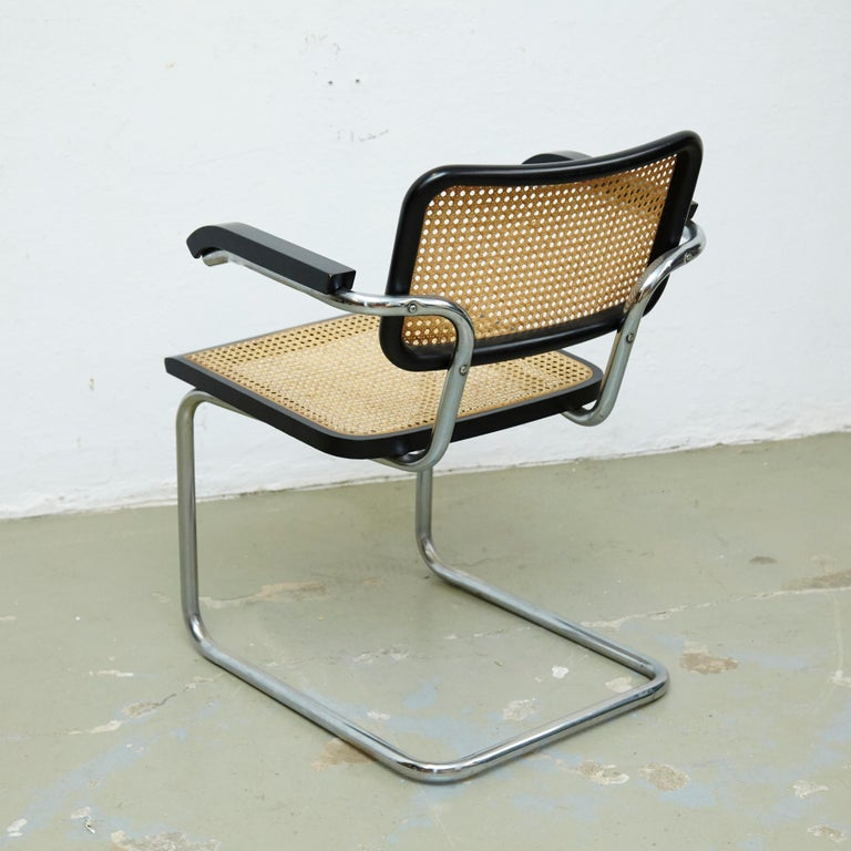 Metal Set of Four Marcel Breuer Cesca Chairs, circa 1970 For Sale