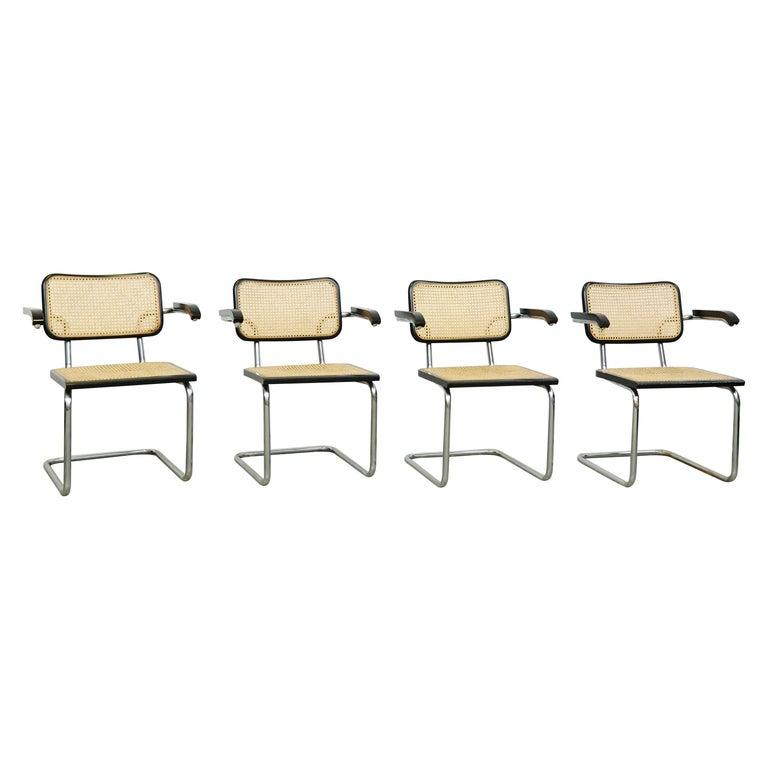 Set of Four Marcel Breuer Cesca Chairs, circa 1970 For Sale