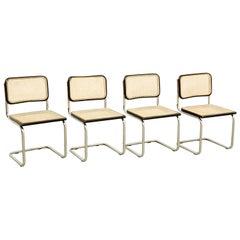 Set of Four Marcel Breuer Cesca Chairs, circa 1970