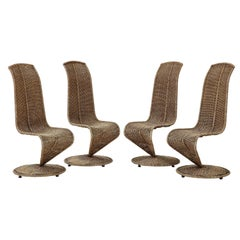 Set of Four Marzio Cecchi Model 'S' Chairs, Italy