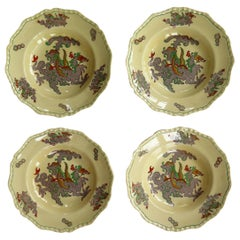 Set of Four Masons Ironstone Large Bowls in Chinese Dragon Pattern, circa 1900