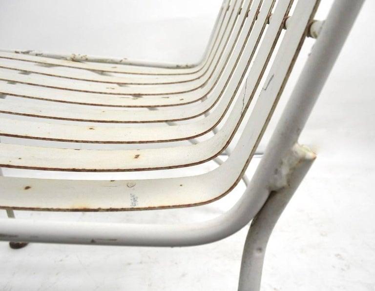 American Set of Four Matching Garden Patio Metal Armchairs