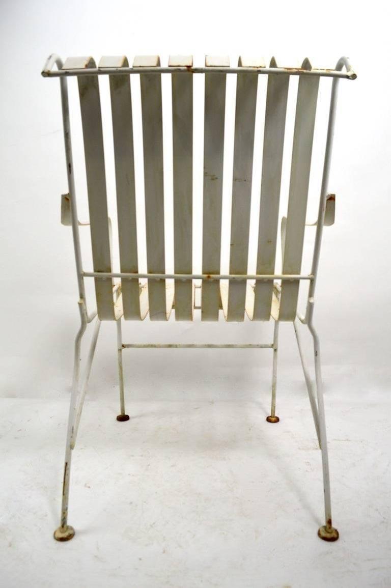 Set of Four Matching Garden Patio Metal Armchairs 3