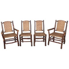 Set of Four Matching Old Hickory Chairs