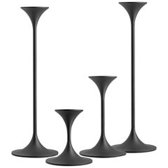 Set of Four Max Brüel 'Jazz' Candleholders, Steel with Black Powder Coating