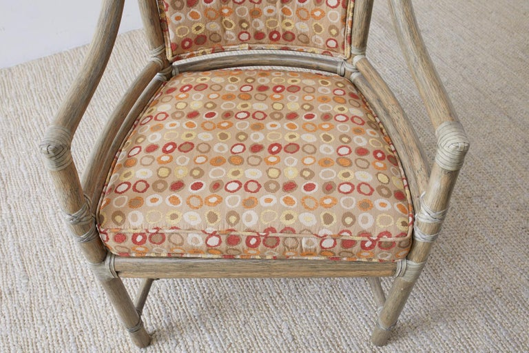 Set of Four McGuire Bamboo Rattan Target Dining Chairs For Sale 1