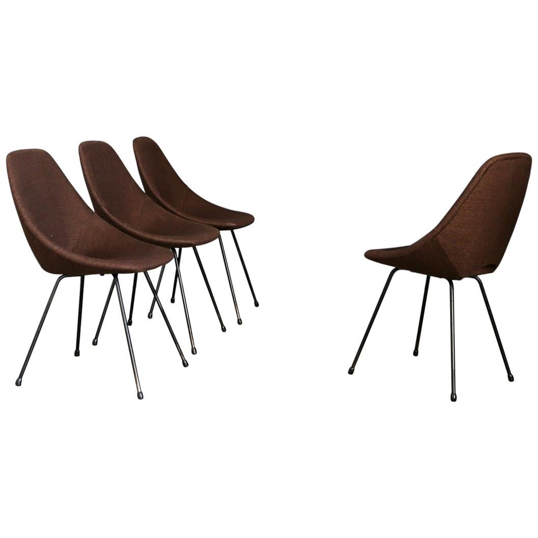"""Set of Four Chairs """"Medea"""" by Vittorio Nobili, 1950s"""