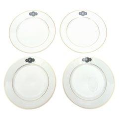 Set of Four Medusa Porcelain Fornasetti & Rosenthal Desert/ Salad Plates