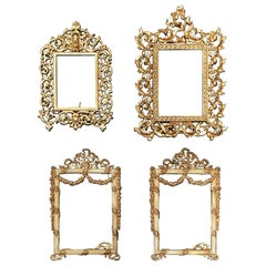 Set of Four Metal French Picture Frames