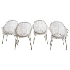 Set of Four Metal Outdoor Chairs