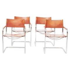 Set of Four MG5 Dining or Office Chairs Designed by Mart Stam