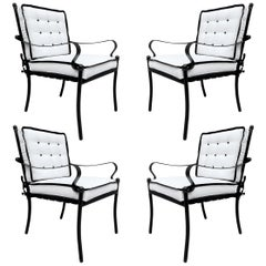 Set of Four Mid-20th Century American Iron Patio Chairs