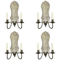 Set of Four Mid-20th Century American Two-Arm Sconces