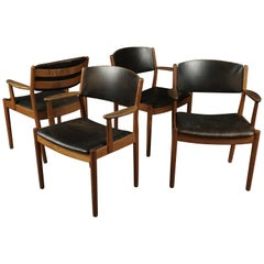 Set of Four Mid-Century Armchairs by Poul Volther for FDB Møbler, 1950s
