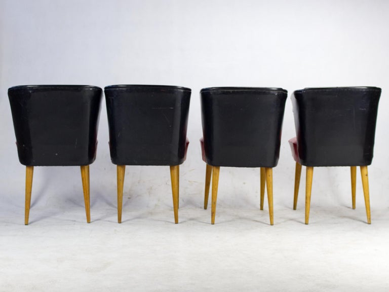 Mid-Century Modern Set of Four Midcentury Chairs, 1960s For Sale