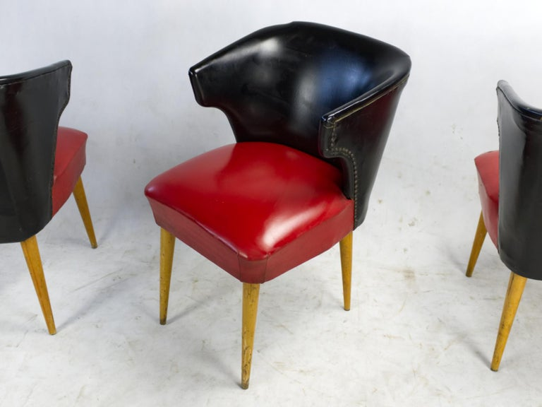 Hungarian Set of Four Midcentury Chairs, 1960s For Sale
