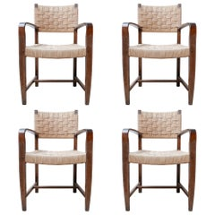 Set of Four Mid-Century Cord Dutch Dining Chairs '4'