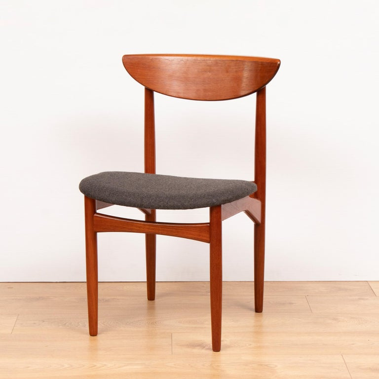 Mid-Century Modern Set of Four Mid Century Danish Teak Dining Chairs By Dyrlund. For Sale