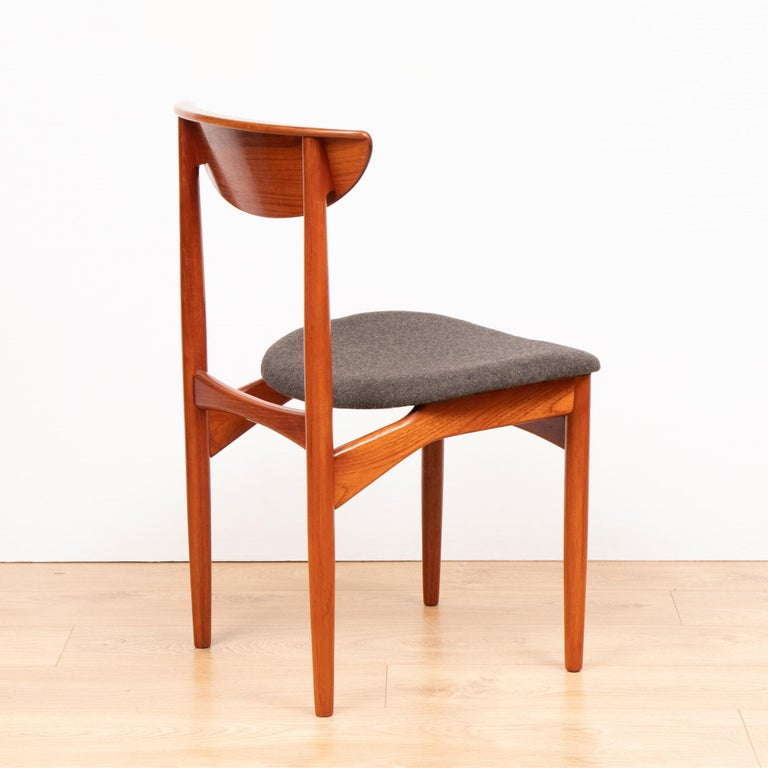 20th Century Set of Four Mid Century Danish Teak Dining Chairs By Dyrlund. For Sale