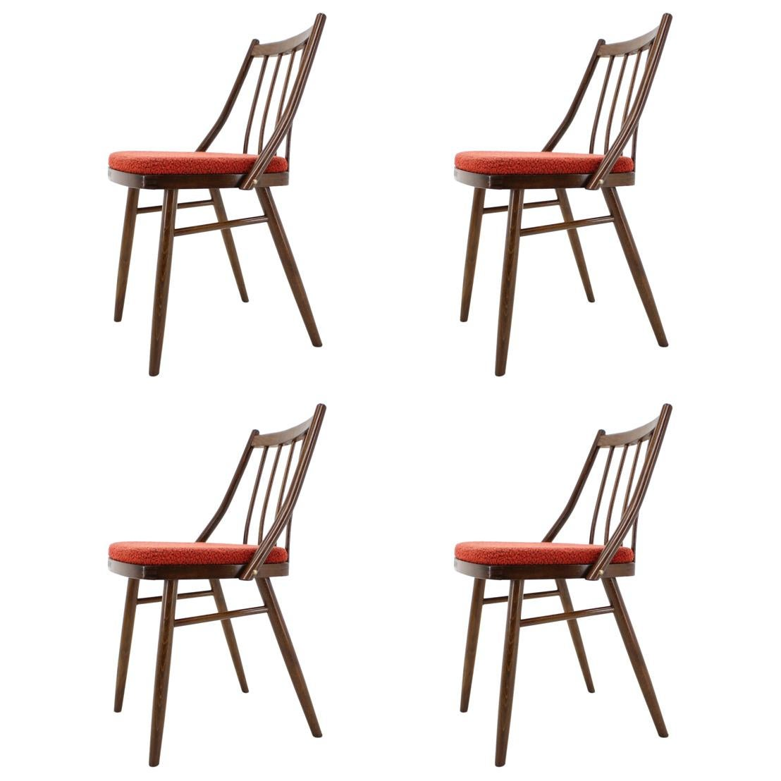 Set of Four Midcentury Dining Chairs by Antonín Šuman, 1960s
