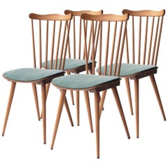 Set of Four Mid-Century French Dining Chairs from Baumann House, 1950s