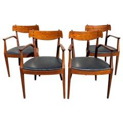 "Set of Four Mid Century Kipp Stewart ""Declaration"" Arm Chairs for Drexel"