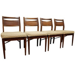 Set of Four Mid-Century Modern American of Martinsville Walnut Dining Chairs