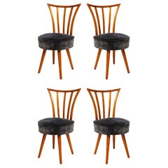 Set of Four Mid-Century Modern Chairs in the Manner of Robsjohn-Gibbings
