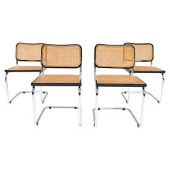 Set of Four Mid-Century Modern Cidue Marcel Breuer B32 Cesca Chairs, Italy