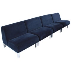 Set of Four Mid-Century Modern Club Chairs